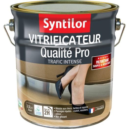 vitrificateur parquet ultra r sistant syntilor 2 5 l incolore leroy merlin. Black Bedroom Furniture Sets. Home Design Ideas