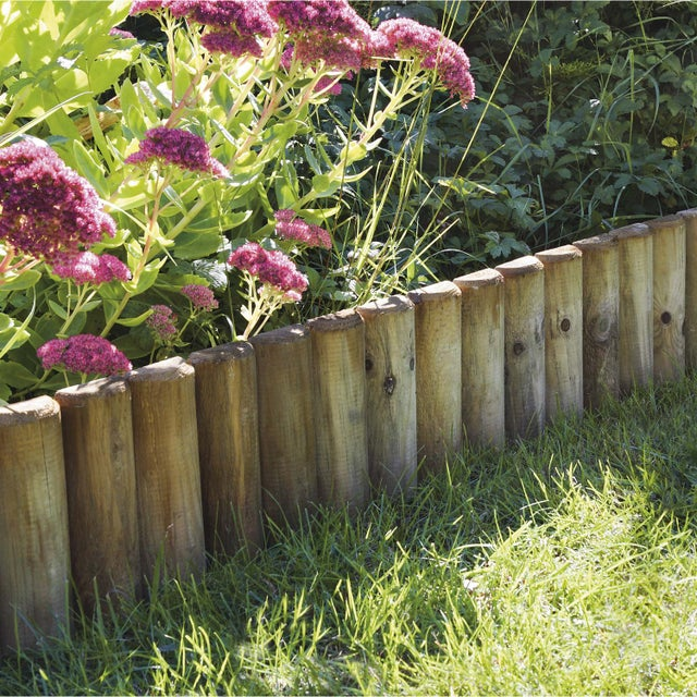 Bordure à Planter Pinède Bois Naturel H35 X L112 Cm