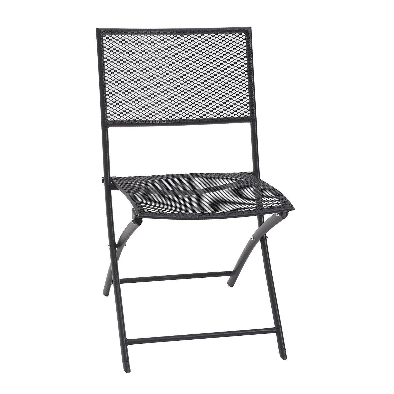 chaise de jardin en acier gris anthracite leroy merlin. Black Bedroom Furniture Sets. Home Design Ideas
