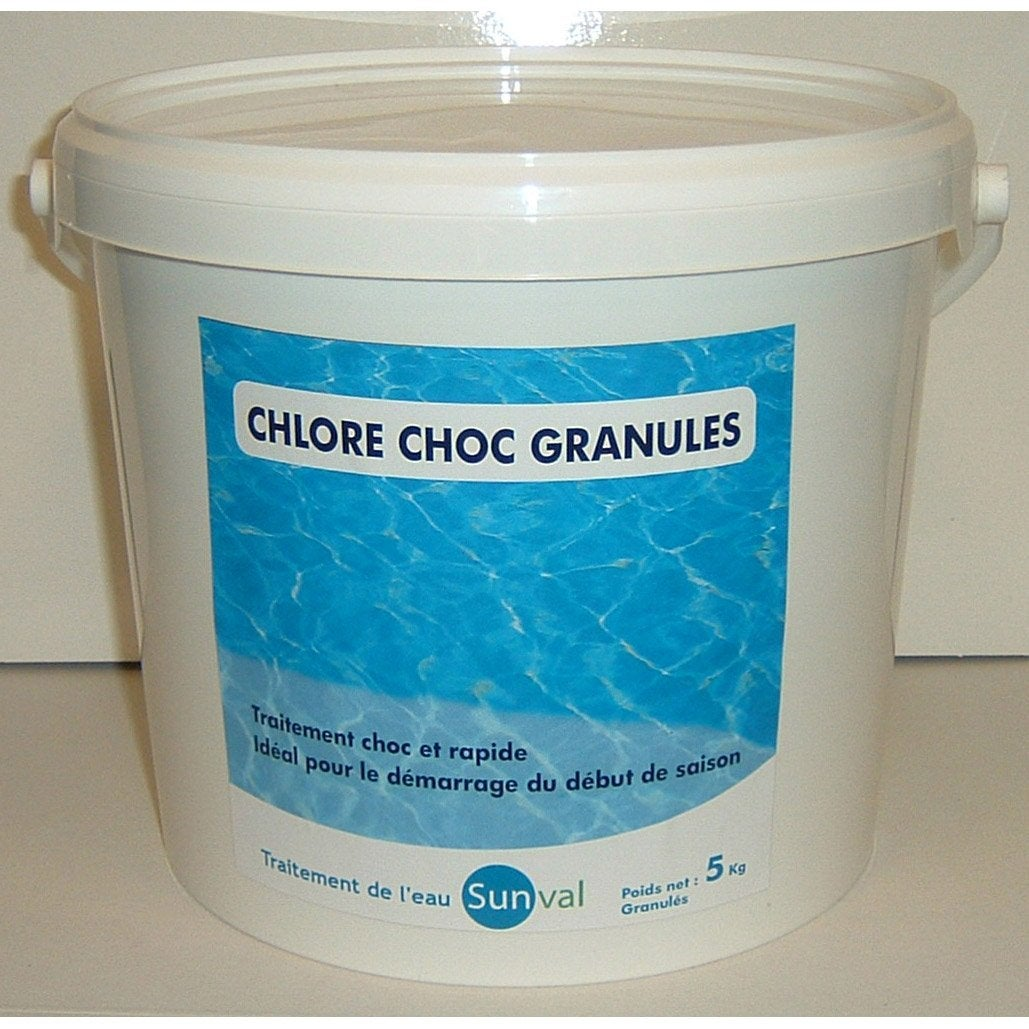 Chlore choc piscine granul 5 kg leroy merlin for Prix chlore piscine