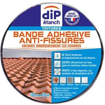 Bande d'étanchéité Anti fissures, DIP aluminium 10 m x 10 cm