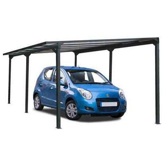 carport aluminium 1 voiture h 234 x l 300 x p 500 cm 15 m2 leroy merlin. Black Bedroom Furniture Sets. Home Design Ideas