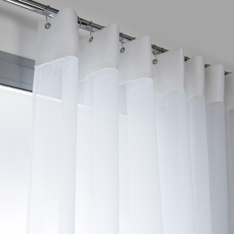 voilage tamisant grande largeur cleo blanc blanc n 0 l. Black Bedroom Furniture Sets. Home Design Ideas