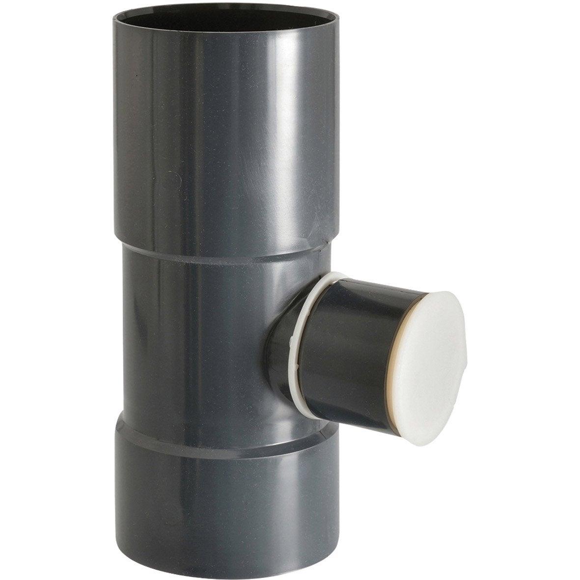 collecteur d 39 eau pour goutti re ronde pvc ardoise girpi. Black Bedroom Furniture Sets. Home Design Ideas