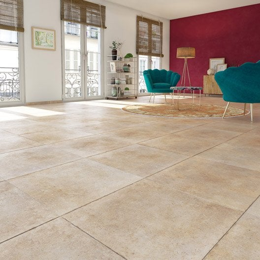 carrelage sol et mur beige effet pierre hier x. Black Bedroom Furniture Sets. Home Design Ideas