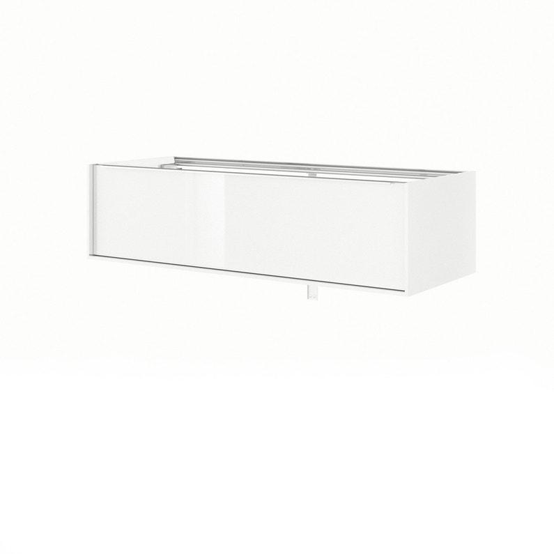 Meuble De Salle De Bains L 120 X H 32 X P 48 Cm Blanc Neo Frame