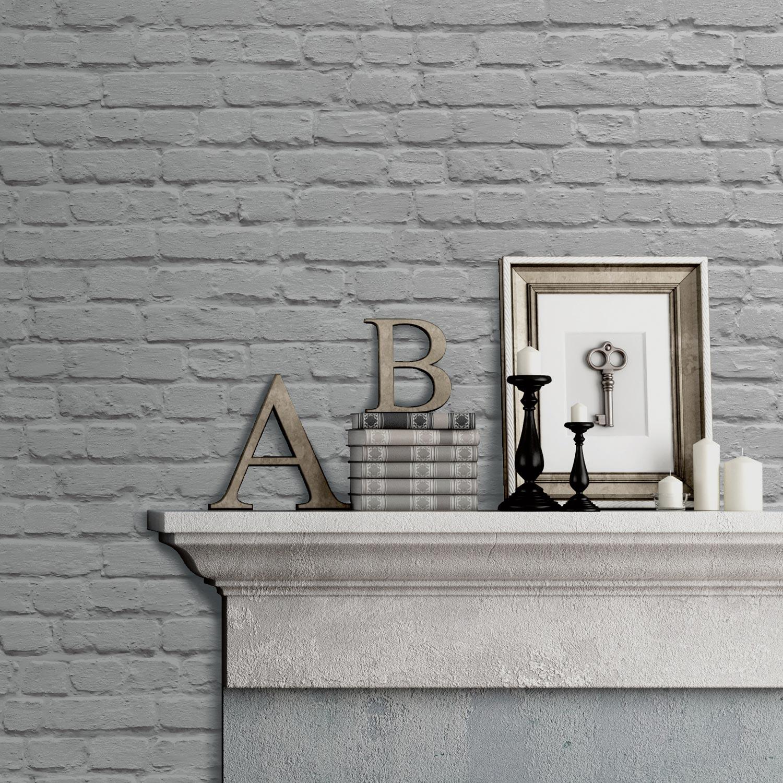 papier peint papier brique gris leroy merlin. Black Bedroom Furniture Sets. Home Design Ideas
