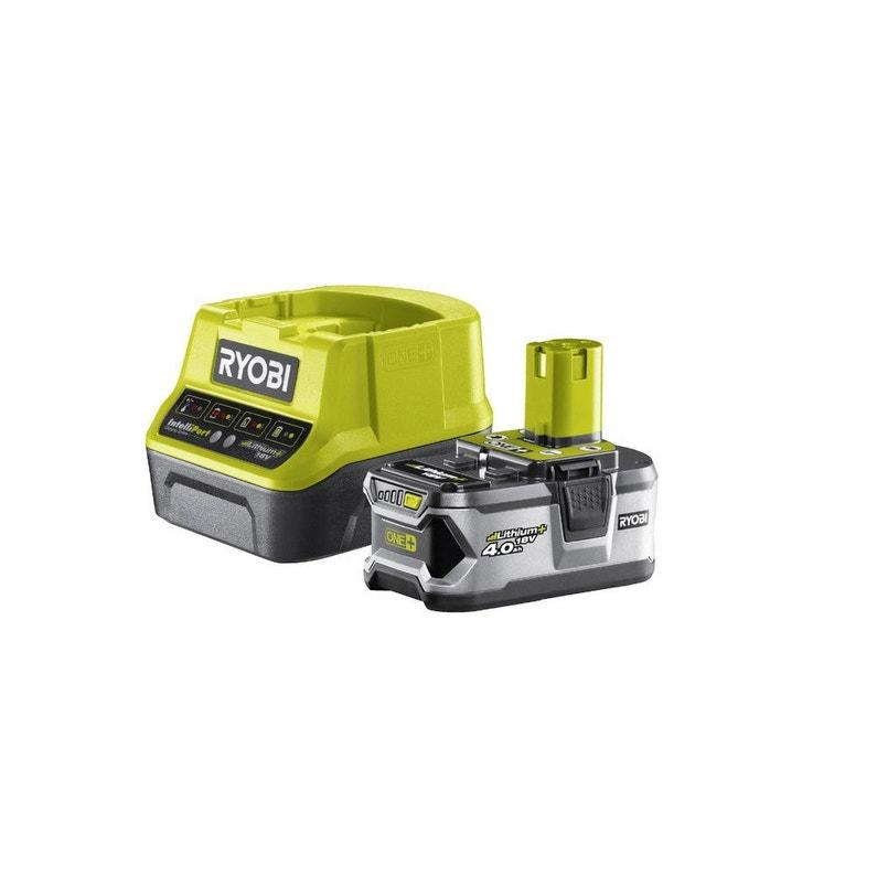 Chargeur Et Batterie Lithium Ion Ryobi Rc18120140g 18 V 4 Ah