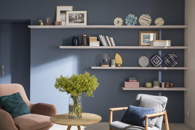 un salon rose poudr leroy merlin. Black Bedroom Furniture Sets. Home Design Ideas