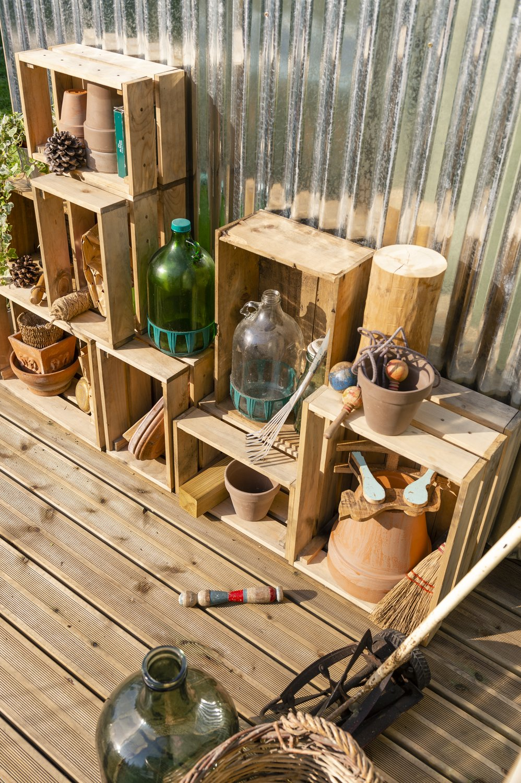 Deco Avec Des Caisses De Pommes des caisses en bois pour une déco authentique | leroy merlin