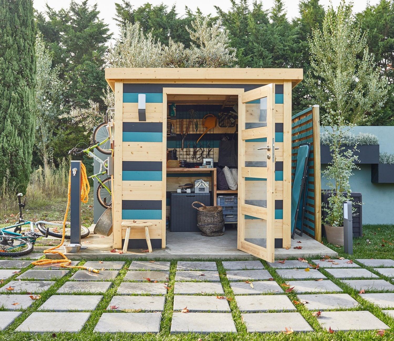Des abris de jardin colorés | Leroy Merlin