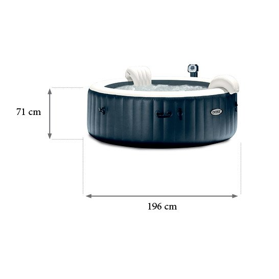 Spa Gonflable Intex Purespa Rond 4 Places Assises Leroy Merlin