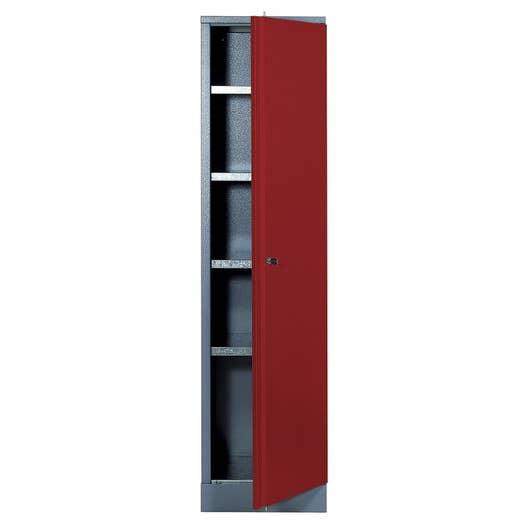 armoire de rangement en m tal rouge kupper 45 5 cm 1 porte. Black Bedroom Furniture Sets. Home Design Ideas