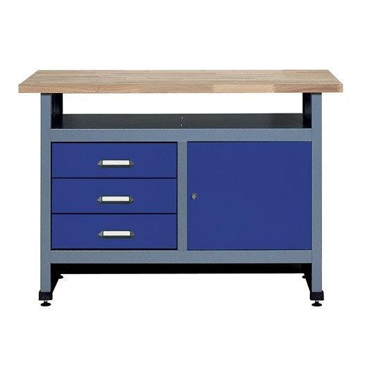 etabli de m canicien kupper 120 cm bleu leroy merlin. Black Bedroom Furniture Sets. Home Design Ideas
