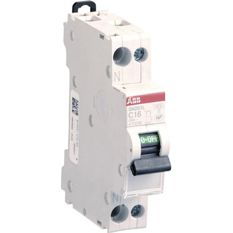 Disjoncteur Phase Neutre Abb 16 A
