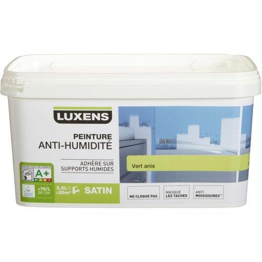 peinture antihumidit luxens vert anis 25 l - Peinture Anti Humidite Pour Salle De Bain