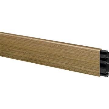 moulure goulotte et plinthe moulure lectrique cache c ble au meilleur prix leroy merlin. Black Bedroom Furniture Sets. Home Design Ideas