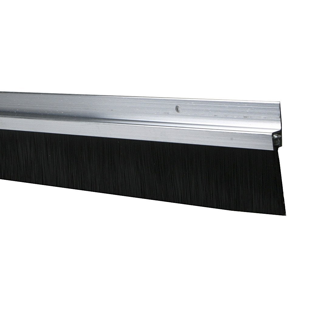 Superbe Bas De Porte à Visser Brosse AXTON, L.100 Cm Aluminium