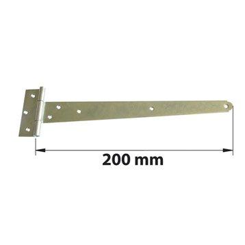 Penture anglaise acier zingué, H.90 x L.240 x P.12 mm