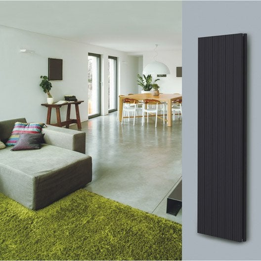 radiateur chauffage central double face noir sabl cm 1684 w leroy merlin. Black Bedroom Furniture Sets. Home Design Ideas