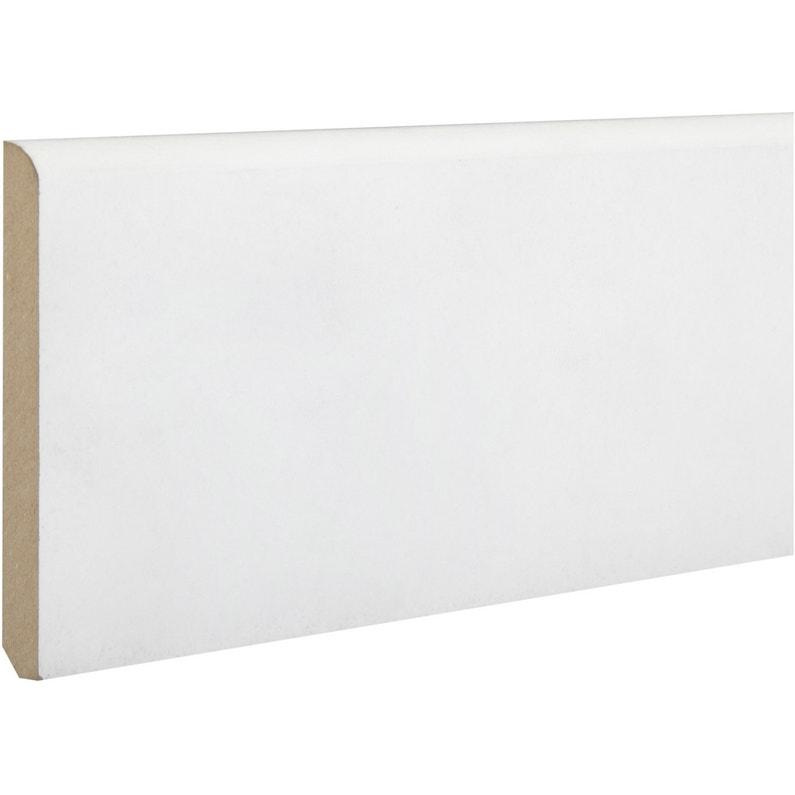 Plinthe Médium Mdf Arrondie Prépeint Blanc 14 X 80 Mm L244 M