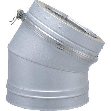 Coude pour conduit double paroi ISOTIP JONCOUXDiam.230 mm 30° Ep.30 mm