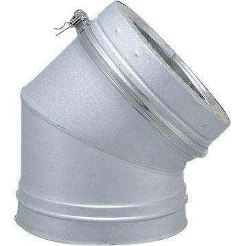 Coude pour conduit double paroi ISOTIP JONCOUXDiam.230 mm 45° Ep.30 mm