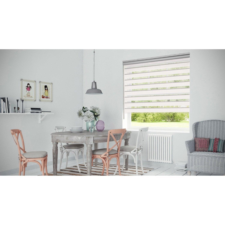 store enrouleur jour nuit coffre alu blanc 117 120 x 250 cm leroy merlin. Black Bedroom Furniture Sets. Home Design Ideas