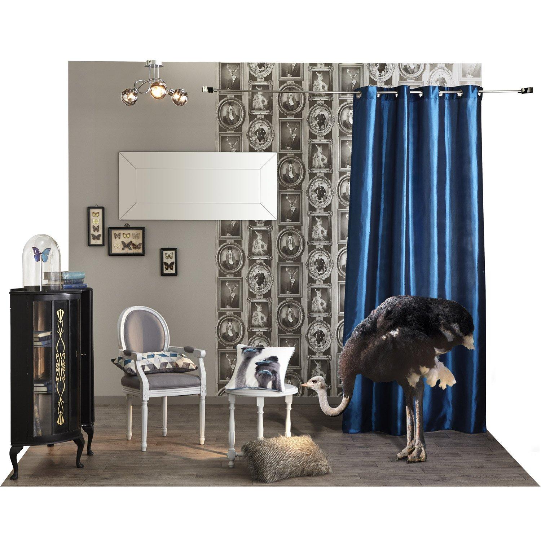 rideau tamisant bengale bleu roi x cm inspire leroy merlin. Black Bedroom Furniture Sets. Home Design Ideas