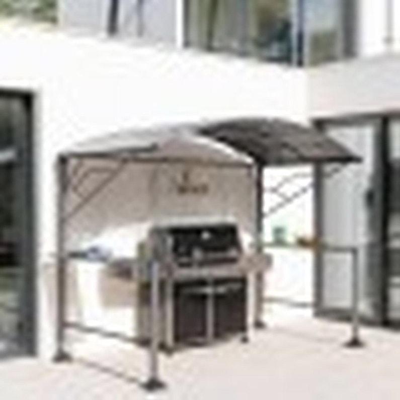 Abri Pour Barbecue Autoportant Neiba Acier Gris 4 5 M