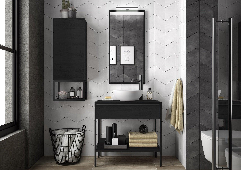 Une salle de bains au style industriel  Leroy Merlin