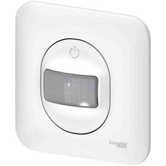 interrupteur automatique ovalis schneider electric blanc. Black Bedroom Furniture Sets. Home Design Ideas