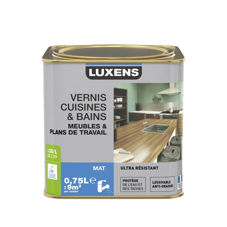 Vernis Cuisine Et Bain Luxens 075 L Incolore