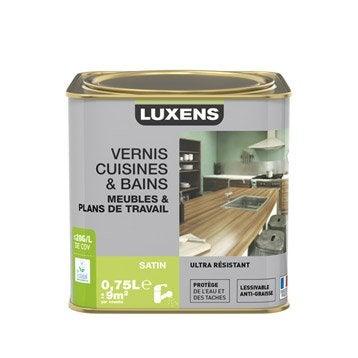 Vernis cuisine et bain Vernis cuisine et bains LUXENS, 0.75 l, teck