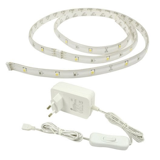 kit ruban led blanc 4000k tr s clairant 1020 lumens. Black Bedroom Furniture Sets. Home Design Ideas
