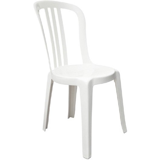 Chaise de jardin en r sine miami blanc leroy merlin - Chaise de bistrot blanche ...
