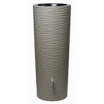 Récupérateur d'eau aérien GARANTIA cylindrique sable , 350 l