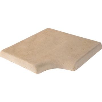 margelle castel en pierre reconstitue beige flamm l50 x l50 x
