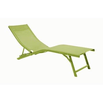 Relax de jardin en aluminium Fuji vert mousse
