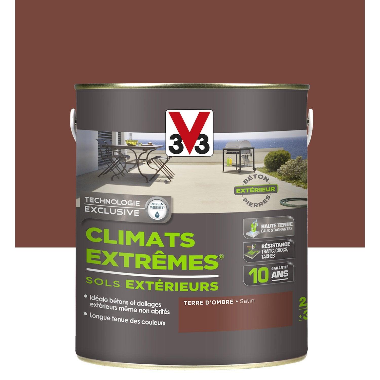 High Quality Peinture Sol Extérieur Climats Extrêmes V33, Marron Terre Du0027ombre, ...