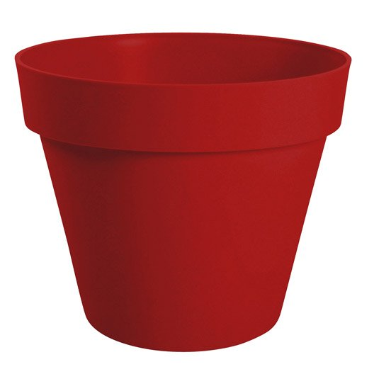 Pot polypropyl ne eda x x cm rouge - Pot de fleur a accrocher ...