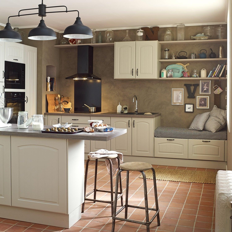 meuble de cuisine chanvre delinia ol ron leroy merlin. Black Bedroom Furniture Sets. Home Design Ideas