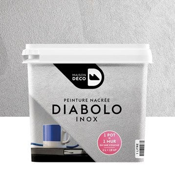 Peinture à effet, Diabolo MAISON DECO, inox, 1 l