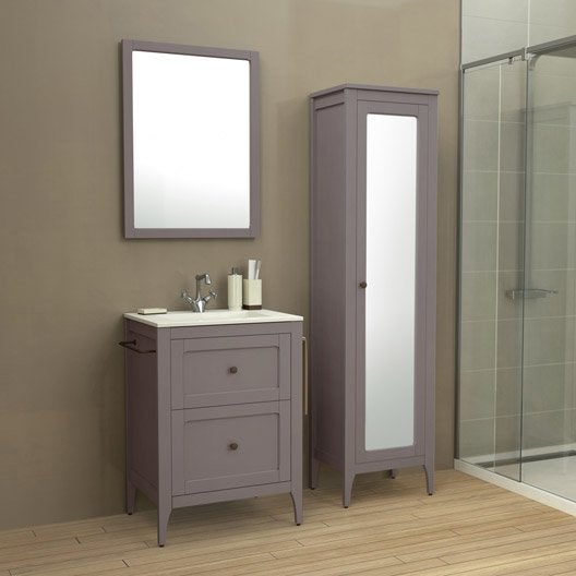 Meuble de salle de bains de 60 79 marron ashley for Meuble ashley prix