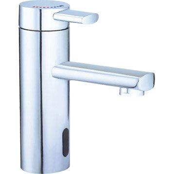 Mitigeur de lave-mains eau chaude et froide infrarouge chromé SENSEA Naxos