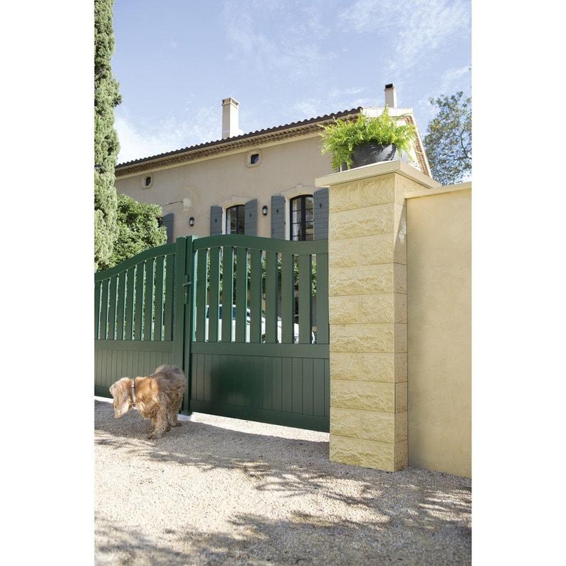 Couvre Mur Plat Classique Lisse Ton Pierre H4 X L23 X P49 Cm