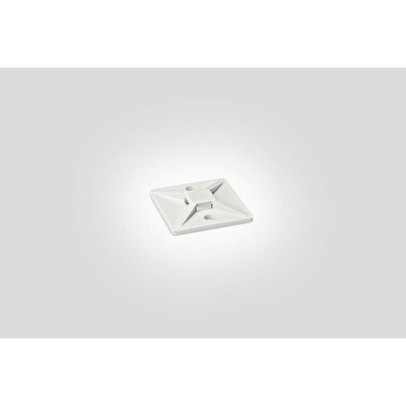 coupon de réduction meilleur prix Découvrez Lot de 10 embases adhésive pour collier, L.28 mm, blanc HELLERMANNTYTON