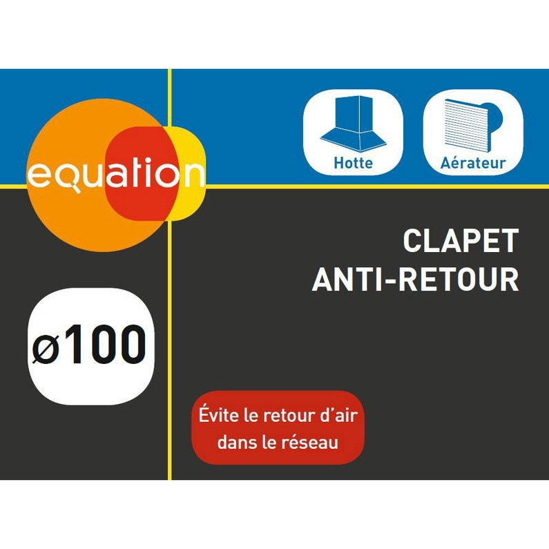 Clapet Anti Retour Acier Equation Diam100 Mm