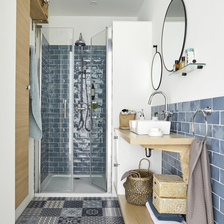 Tele Salle De Bain petite salle de bains pleine de charme | leroy merlin