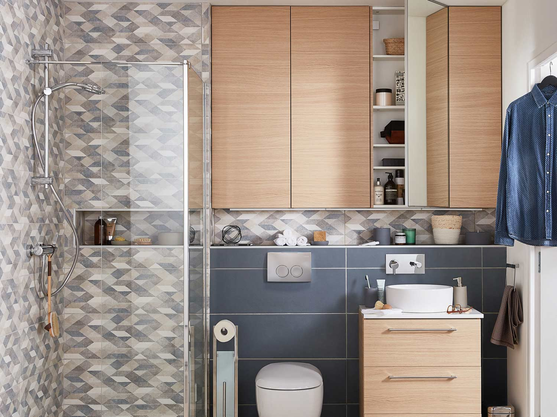 Mini salle de bains, maxi rangements  Leroy Merlin